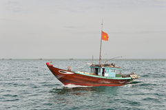 Cruising Fishing Boat Stock Photos