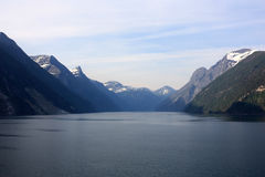 Cruising fjords of Norway. The image of the fjords of Norway early in the morning Royalty Free Stock Image