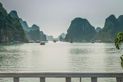 Cruising in Halong Bay, Vietnam Stock Photo