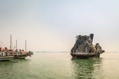 Cruising in Halong Bay, Vietnam Stock Photos
