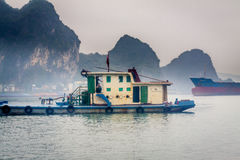 Cruising in Halong Bay, Vietnam Royalty Free Stock Photo