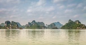 Cruising in Halong Bay, Vietnam Stock Images