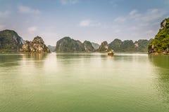 Cruising in Halong Bay, Vietnam Stock Image