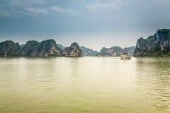 Cruising in Halong Bay, Vietnam Royalty Free Stock Image