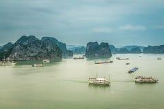 Cruising in Halong Bay, Vietnam Royalty Free Stock Images