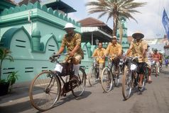 CRUISING INDONESIAN HISTORICAL TOWN Stock Images