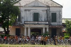 CRUISING INDONESIAN HISTORICAL TOWN Royalty Free Stock Image