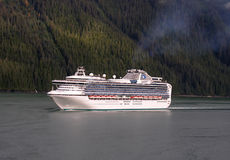 Cruising the Inside Passage, Alaska. Alaska cruise tours are a great way to see and enjoy Alaska, it's natural beauty and wildlife Stock Photography