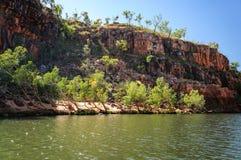 Cruising on the Katherine River Gorge, NT, Australia Royalty Free Stock Photos