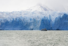 Cruising Launch - Uppsala Glacier. Argentina Lake, El Calafate, Patagonia Royalty Free Stock Image