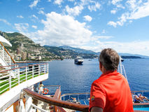 Cruising through the Mediterranean. Is a great way to see many countries.  It's like a floating hotel Stock Images