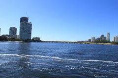 Cruising in Nerang River, Surfers Paradise, Gold Coast Stock Photo