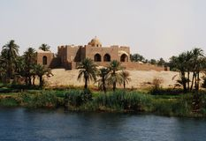 Cruising on the Nile River, the countryside, southern Egypt stock photography