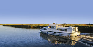 Cruising On The Norfolk Broads Royalty Free Stock Photography