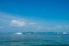 Cruising Phang Nga Bay in Thailand Stock Image