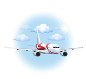 A cruising plane. Illustration of a cruising plane on a white background Royalty Free Stock Photo