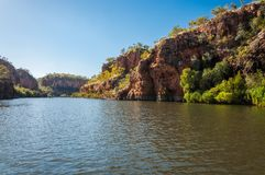 Cruising on the River at Katherine Gorge, NT, Australia Royalty Free Stock Images