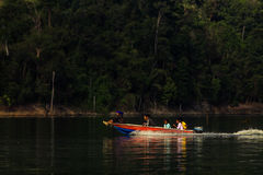 Cruising Royal Belum , Temengor Lake. Stock Photo