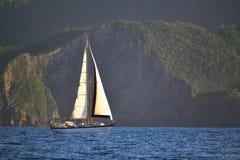 Cruising sailboat. Royalty Free Stock Photography
