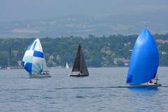 Cruising sailboats Royalty Free Stock Photos
