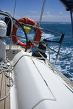 Cruising on a sailing boat Stock Photos