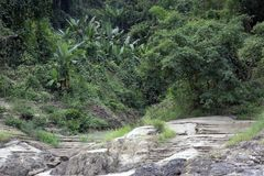 Cruising the Salween River stock image