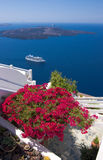 Cruising in santorini Stock Photography
