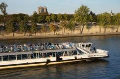 Cruising the Seine River Royalty Free Stock Photos