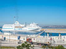 Cruising ship dock at Marseille port Stock Images
