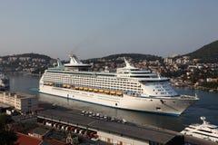 Cruising ship in Dubrovnik Stock Photography