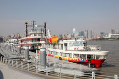 Cruising ships in Shanghai, China Royalty Free Stock Photos