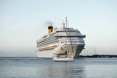 Cruising ships. Stock Images