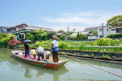 Cruising and sightseeing, Yanagawa river Stock Images