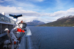 Cruising the Sognefjord, Norway Royalty Free Stock Images