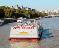 Cruising the Thames river. Stock Photography