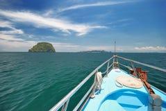 Cruising to the island. Cruising in Andaman sea, Trang, Thailand royalty free stock photo