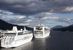 Cruising To Ketchikan Town Stock Photography