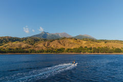 Cruising to Sangeang volcano Indonesia Stock Image