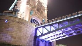 Cruising under Tower Bridge London. LONDON, ENGLAND stock video