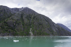 Cruising Endicott Arm. Cruising up the Endicott Arm to Dawes Glacier Stock Image
