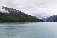 Cruising Endicott Arm. Cruising up the Endicott Arm to Dawes Glacier Stock Photos