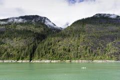 Cruising Endicott Arm. Cruising up the Endicott Arm to Dawes Glacier Stock Images