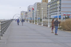 Cruising the Virginia Beach Boardwalk Royalty Free Stock Images