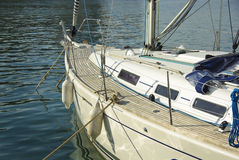 Cruising yacht Royalty Free Stock Photo