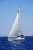 Cruising yacht Royalty Free Stock Photography