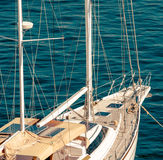 Cruising yacht Stock Image