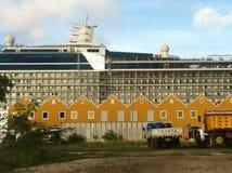 Cruisse-Schiff auf Bonaire stockfotografie