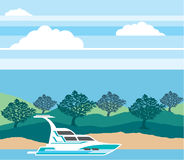 Cruizer fartygvektor stock illustrationer