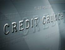 Crujido de crédito Fotografía de archivo libre de regalías