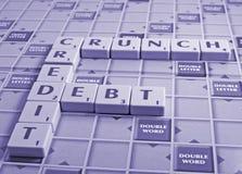 crujido y deuda de crédito Fotografía de archivo